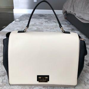 KATE SPADE ♠️ cream black leather handbag purse
